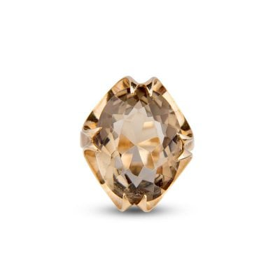 9ct Yellow Gold Oval Citrine Fancy Basket Set Ring