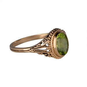 9ct Yellow Gold Peridot Ring